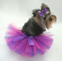 Bright Purple and Hot Pink Dog Tutu & Free Matching Hair Bow by divapuppycouture for $10.50
