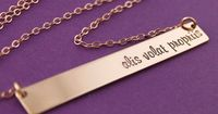 Rose Gold Personalized Bar Necklace - Spiffing Jewelry
