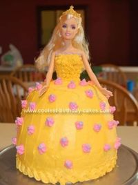 Homemade Barbie Doll Cake: I made this Barbie Doll Cake for my daughter's 3rd birthday. This was a recipe that came with the Pampered Chef Classic Batter Bowl. I baked 2 boxed