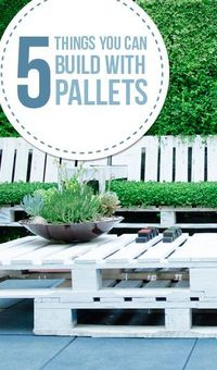 Here are 5 ideas of things that you can build with pallets. There are lots of home decor items and furniture items that can be built from pallet wood. But, �€�