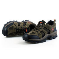 Men Outdoor Breathable Athletic Shoes Lace Up Walking Shoes Mountaineering Shoes