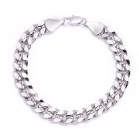 MEN'S LUXURY SILVER PLATED 10MM CHEAP BLING SOLID CURB LINK CHAIN BRACELET Colour: Silver Material: Brass Technique: This product looks & feels like a real piece of silver jewellery Special Features: This product has been SPECIALLY MANUFACTU...
