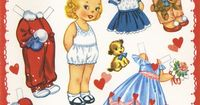 "�œ"" #Paper dolls.....""Nancy Ann""- Valentine �œ""-Out Doll Book, A-Meri-Card, 1952"