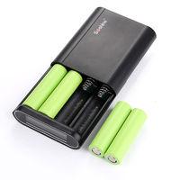 Mobile Phone 4 x 18650 Power Bank Case 5V 2A Dual USB LCD Powerbank Box Portable DIY Battery Charger