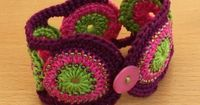 **A CROCHET BRACELET....HOW UNIQUE** Image detail for -... items from girlybunches crochet cotton pink and green cuff bracelet