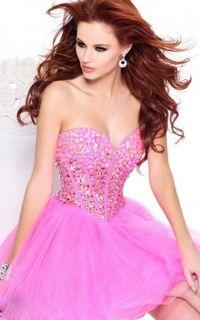 Pink Sherri Hill 21101 Homecoming Dress 2015