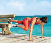 Want to get flat abs in just a few moves? Try the plank, an all-purpose move that firms and tones your midsection.