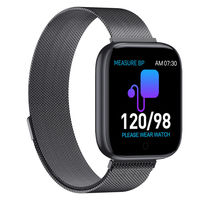 Bakeey T85 1.54inch HD Large Display Heart Rate Blood Pressure Oxygen Monitor Custom Dial Smart Watch