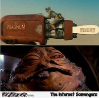 Funny Star Wars and magnum ice cream
