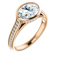 2.0 Ct Oval Diamond Engagement Ring 14k Rose Gold $9187.64