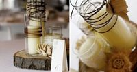 If you are looking for DIY wedding centerpiece ideas for your fall wedding, consider replicating these. Emily Newman from Once Wed created these fabulous rustic