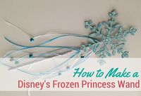 Follow these simple steps to create a Disney's Frozen princess wand that would rival Elsa's!