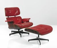 CHARLES AND RAY EAMES A SPECIAL-ORDER LOUNGE CHAIR,MODEL NO. 670,AND OTTOMAN, MODEL NO. 671