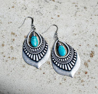 Turquoise Jewelry, Silver Chandelier Earrings, Genuine Arizona Turquoise, Bohemian Earrings, Boho Chic, December Birthstone