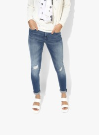Blue Washed Mid Rise Regular Jeans comfortable campus for whole world every human �'�2550.00