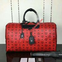 MCM Medium Nomad Weekender In Red