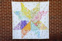 Giant Vintage Star Quilt. One quilt made from your favorite (giant) block. So clever.