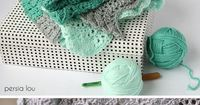 crochet feather and fan baby blanket - free crochet pattern ~ k8 ~