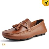 Montevideo Mens Leather Loafers Driving Shoes CW740315