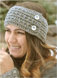 Free Crochet Headband And Cuff #Pattern TOP 10 WARM #DIY #HEADBANDS (FREE CROCHET AND KNITTING PATTERNS)
