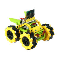 ELECFREAKS DIY Micro:bit Graphic Program Stick Control Smart RC Robot Car With 80mm Omni Wheels Compatible With LEGO