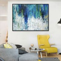 Abstract painting acrylic navy blue painting on canvas huge size large painting Wall Pictures Home Decor Hand Painted cuadros abstractos $89.00