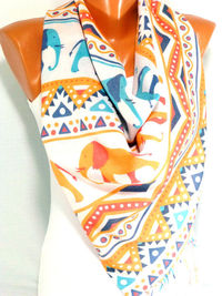Scarf, Shawl, Scarves, Ethnic Scarf, Elephant Scarf, Elaphant Printed Pashmina Shawl, Women Accessories, Gift for Christmas, for Mothers Day $17.00