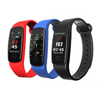 "XANES C19 0.96"" Color Touch Screen IP67 Waterproof Smart Bracelet Pedometer Heart Rate Blood Pressure Monitor Fitness Smart Watch"
