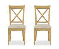 £230, Bentley Designs Chantilly X Back Dining Chair in Pair.