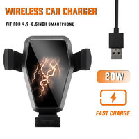 K12 20W Wireless Car Charger Intelligent Quick Charge Cooling Bracket