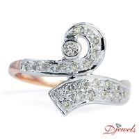 """Engagement Diamond Gold Ring In 9K H/M Rose Gold  For Women's By Djewels  Greetings from Djewels �€"""" India's one the top most Diamond Jewellery Manufacturer , wholesaler since 1985. We can customize any kind of Real Diamond Jewel..."""
