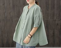 Tops for women,womens summer tops,womens loose top,green tops,large size tops,gifts for her,loose fit top,casual tops,linen summer shirt $53.00