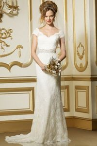 Also in Denver - Hate the bow on the butt but otherwise could be good. Wtoo Brides Vesta Gown Style 11523 | Watters.com
