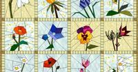 Photo : Free Quilt Pattern Star Flower Quilt From Ez Quilting At ...