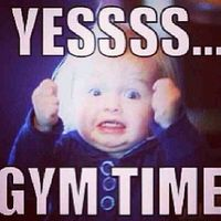 Yessss! #gymtime #gym #humor #excited #fitness