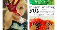 Finger painting for toddlers is a classic beginning art activity and sensory sand finger paint adds an extra level of sensory fun.