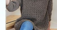 Pretty sweater free knitting pattern.