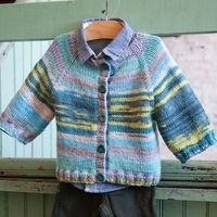 Classic Elite Liberty Wool Easy Baby Cardigan Knitting Pattern PDF