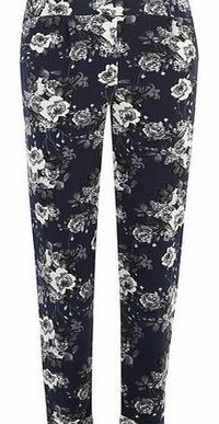 Dorothy Perkins Womens Blue Floral Crepe Joggers- Blue DP14559850 Blue floral crepe flat front style joggers with an elasticated waist. Length is 73cm. 100% Polyester. Machine washable. http://www.comparestoreprices.co.uk//dorothy-perkins-womens-blue-...