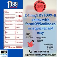 Form 1099 online makes 1099 k tax filing simpler and easy to file. Form 1099 online is an authorized IRS e-file provider and the company has more experience in providing online filing services.