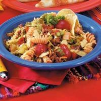 "Gert Rosenau of Pewaukee, Wisconsin blends the best of two popular salads into one satisfying main dish. ""Serve taco or corn chips on the side, and you have a c"