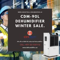 #dehumidifier #IndustrialDehumidifier #UAE #SaudiArabia CDM-90L industrial dehumidifier is commercial grade dehumidification unit with extraction capacity of 90 liters per day. Strong metal body make this dehumidifier suitable for industrial use. It is p...