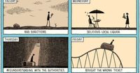 A recent comic for The New York Times Magazine by Tom Gauld