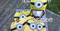 Minion hat crochet pattern despicable me Easy by lizzziee