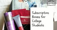 7 Subscription Boxes for College Students- things to try out and decide if you really like. If not no wasting money and if you do like them you've just found yourself something for cheap.