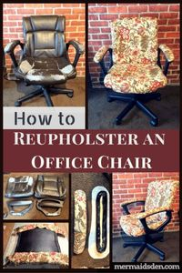 In this post, I'll show you how to reupholster an office chair with tufted cushions, so that it looks brand new and your cushions have a nice shape to them.