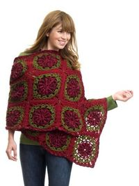 Yuletide Wrap by Randy Cavaliere. Free Caron crochet pattern using worsted yarn and 5.5mm hook.