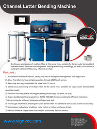 Channel Letter Bending Machines