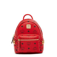 MCM X-Mini Stark Side Odeon Studs Backpack In Red