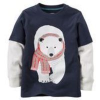 With layered-look thermal sleeves, this polar bear is ready to play!<br>